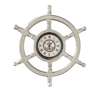 Metal Helmsman Wheel Clock