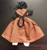 Heidi Ott Brown Black Outfit With Bloomers & Bonnet