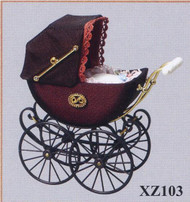 Heidi Ott Detailed Bordeaux Pram