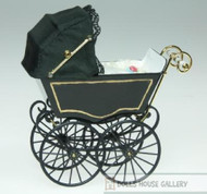 Heidi Ott Antique Pram in Black & Gold