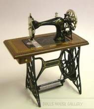 Heidi Ott Walnut Treadle Sewing Machine, SLIGHT DAMAGE