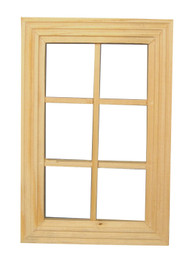 6 Pane Wood Window