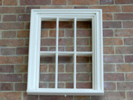 24th Scale White 6 Pane Window