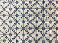 Laminated Tile Sheet Flooring Blue & White