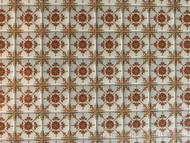 Laminated Tile Sheet Flooring Brown & White