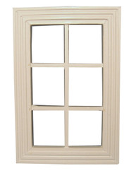 6 Pane White Wooden Window