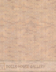 24th Scale Red Brick Wall Paper