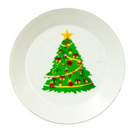 Metal Christmas Tree Plate