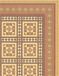 24th Scale Victorian Floor Tiles Flooring Card