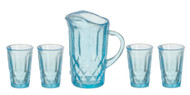 Blue Pitcher & Four Glasses, Part Assemble Required