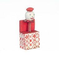 Red & White Jester in a Box