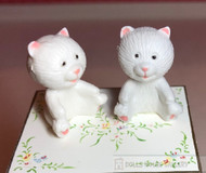 2 Toy Teddy Bears White