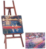 Folding Painting Easel With Two Pictures