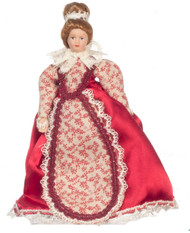 Victorian Mother Doll In Red Dress