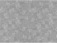 12th Scale Grey Slate Flooring Paper