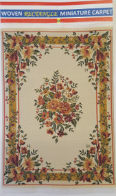 Cream Floral Carpet Rug