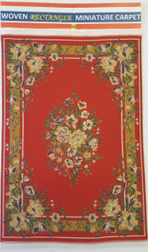 Red Floral Carpet Rug