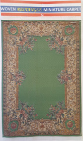Green Floral Carpet Rug