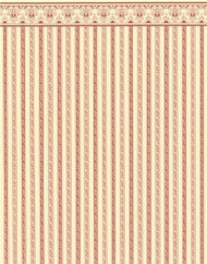 24th Scale Regency Stripe Burgundy Wallpaper