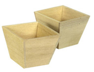 2 Large Wooden Planters