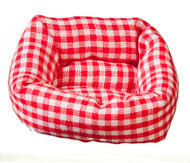Dog / Cat Bed Red Checked