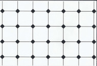 Black & White Floor Tile Paper
