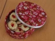 Jammie Dodgers in a Floral Round Box