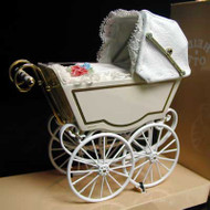 Heidi Ott Antique Pram in White & Gold