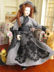 Heidi Ott Lady Doll Black Check Dress