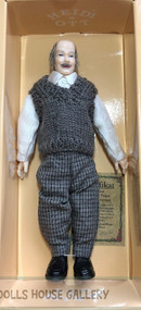 Heidi Ott Old Bald Man Doll In Vest