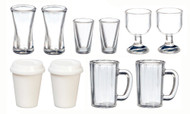 Set Of 10 Cups, Mugs & Glasses
