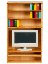 Book Shelf With TV & Books
