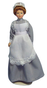 Maid Doll In Grey Outfit