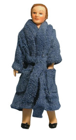 Man Doll In Blue Bath Robe