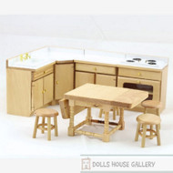 Kitchen Set With Table & Stools