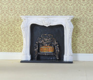 White Rocco Style Fireplace