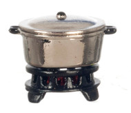 Silver Pot With Base Plate