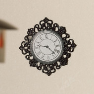 Fancy Black Wall Clock