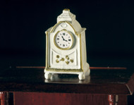 White Clock Golden Edging