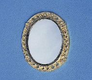 Oval Gold Wall Mirror