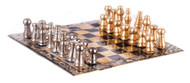 Metal Chess Pieces  & Board