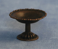 Antique Metal Pedestal Bowl