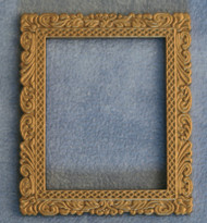 Ornate Golden Metal Picture Frame