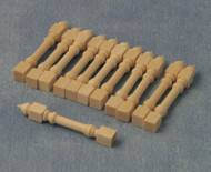 Wooden Stick Spindles Pack Of 12 (42mm)