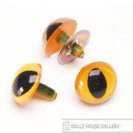 Two Pair Of Orange Cats Eyes 9mm