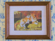 Mother Cat & Kittens Framed Picture