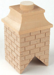 Large Wooden Brick Chimney