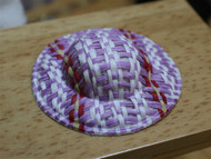 Straw Hat Pink White