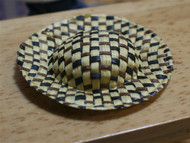 Straw Hat Black & Brown