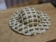 Straw Hat White & Brown